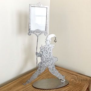 RARE! 1996 Amy Hess Metal Jester Sculpture Frame